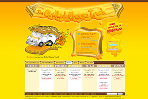 KIARO Computer Solutions Web Development client web site The Grilled Cheese Truck